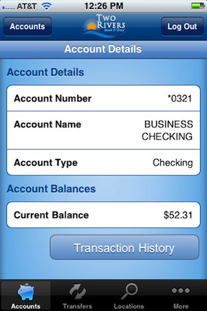 iPhone Account Details